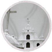 Holy Cross Chapel In Cochin Round Beach Towel