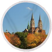 Holy Hill In Living Color Round Beach Towel