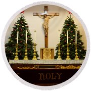 Holy Holy Holy Round Beach Towel by Bob Christopher