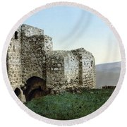 Holy Land: Ruins Round Beach Towel