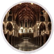 Holy Name Cathedral Round Beach Towel