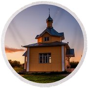 Holy Source 4. Karelia Round Beach Towel