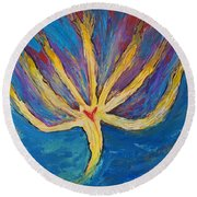 Holy Spirit Which Dwells In You Round Beach Towel