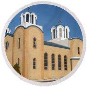Holy Trinity Orthodox Christian Church Round Beach Towel