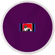 Homage Hedy Lamarr Nude Extasy 1932 Screen Capture Collage 1932-2012 Round Beach Towel