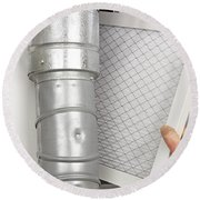 Home Air Filter Replacement Round Beach Towel
