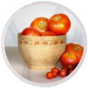 Home Grown Tomatoes II Round Beach Towel