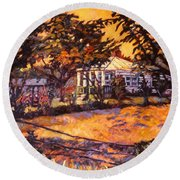 Home In Christiansburg Round Beach Towel
