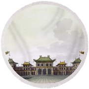 Home Of A Rich Individual In Peking Round Beach Towel