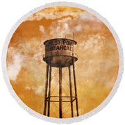 Home Of The Pilot Point Bearcats Round Beach Towel