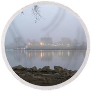 Home On The Banks Of The Ohio Round Beach Towel