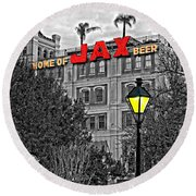Home Sweet Home Monochrome Round Beach Towel