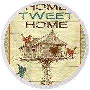 Home Tweet Home Round Beach Towel