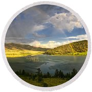 Homeground Rainbow Landscape Round Beach Towel