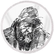 Homeless Round Beach Towel