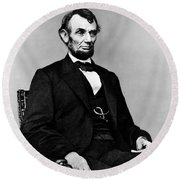 Honest Abe Round Beach Towel