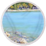Honey Moon Beach Round Beach Towel