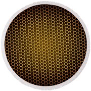 Honeycomb Background Round Beach Towel