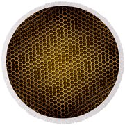 Honeycomb Background Seamless Round Beach Towel
