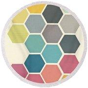 Honeycomb II Round Beach Towel