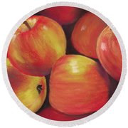 Honeycrisp Apples Round Beach Towel by Anastasiya Malakhova