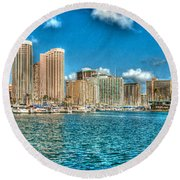 Honolulu Hi 2 Round Beach Towel
