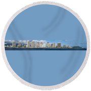 Honolulu Hi 3 Round Beach Towel