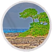 Honolulu Hi 7 Round Beach Towel