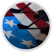 Honoring America Round Beach Towel by Marlon Huynh
