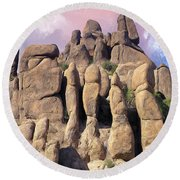 Hoodoo In The Superstition Mountains Round Beach Towel