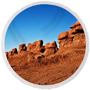 Hoodoos Row Round Beach Towel