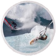 Ho'okipa Windsurfers Round Beach Towel