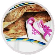 Hoola Hooping Round Beach Towel