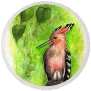 Hoopoe Round Beach Towel