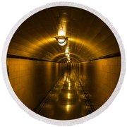 Hoover Dam Art Deco Tunnel Round Beach Towel
