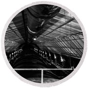 Hoover Dam Intake Pipe Round Beach Towel