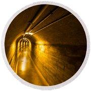 Hoover Dam Tunnel 2 Round Beach Towel