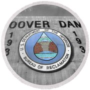 Hoover Logo  Round Beach Towel