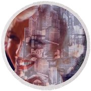 Hope And Tragedy Round Beach Towel