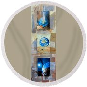 Hope For Humanity Round Beach Towel