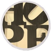 Hope In Sepia Round Beach Towel