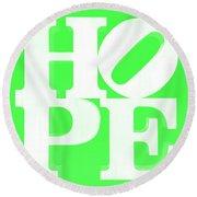 Hope Inverted Green Round Beach Towel