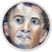 Hopeful - President-elect Round Beach Towel by Carlin Blahnik