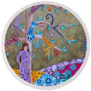Hopes And Wishes Round Beach Towel