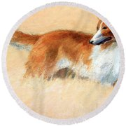 Hopper's Cape Cod Evening -- The Dog Round Beach Towel