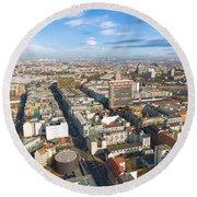 Horizontal Aerial View Of Berlin Round Beach Towel