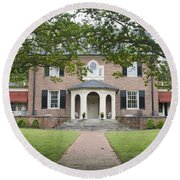 Hornsby House Inn Yorktown Round Beach Towel by Teresa Mucha