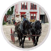 Horse And Buggy Sc3643-13 Round Beach Towel