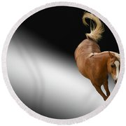 Horse Round Beach Towel