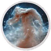 Horse Head Nebula Round Beach Towel